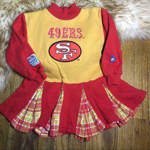 Other - Vintage 49ers Cheerleader Dress NFL KIDS Cheer 4T